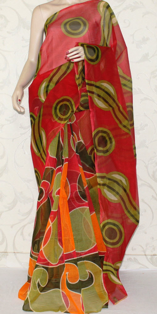 Exclusive Supernet Saree (Printed) 12503