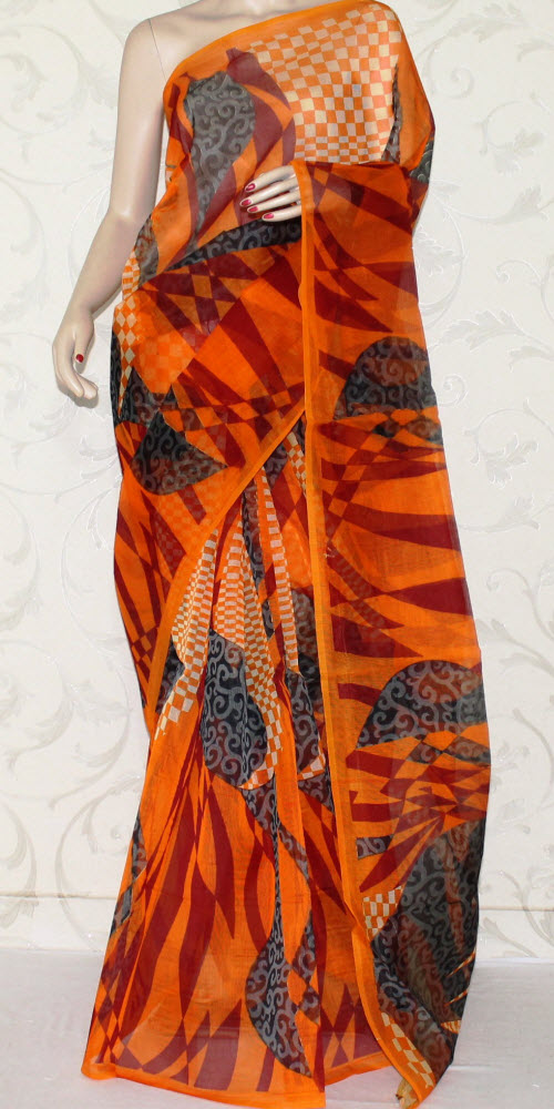 Exclusive Supernet Saree (Printed) 12510