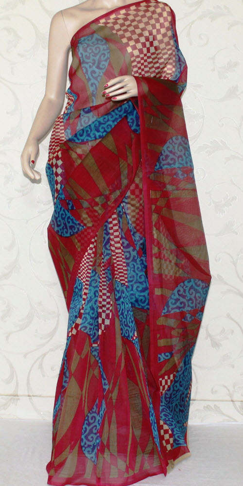 Exclusive Supernet Saree (Printed) 12511