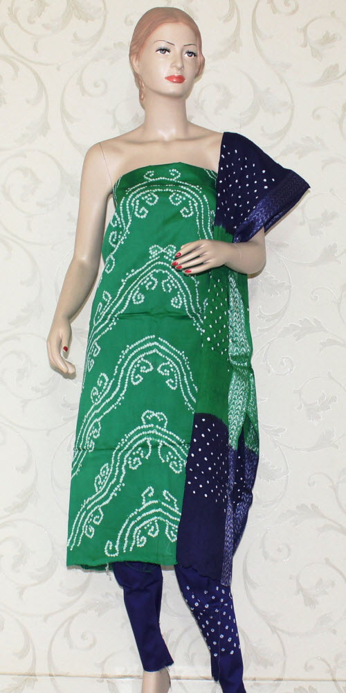 Bandhani (Tie & Die) Un-Stitched Pure Cotton Suit 12523