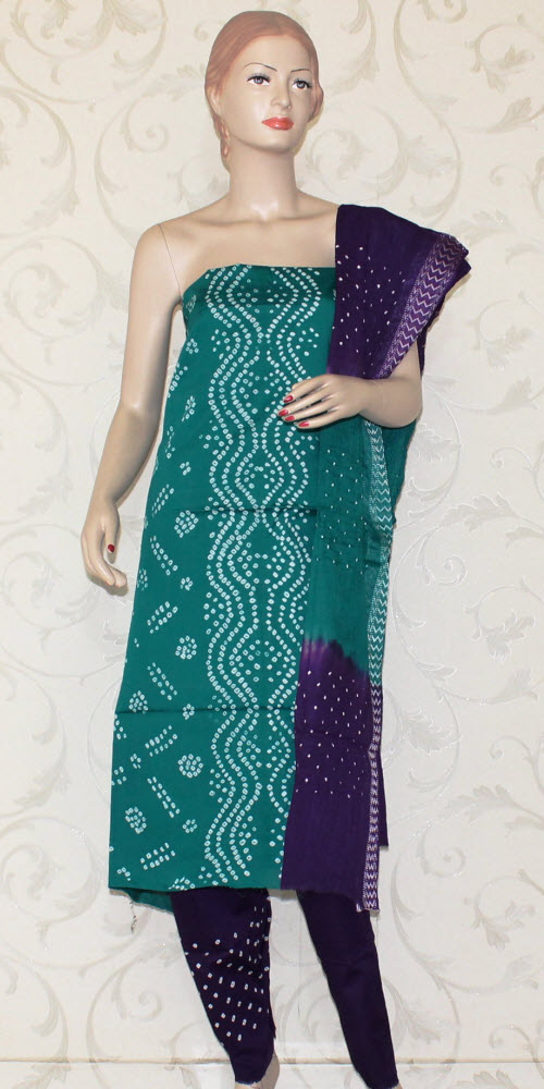 Bandhani (Tie & Die) Un-Stitched Pure Cotton Suit 12525