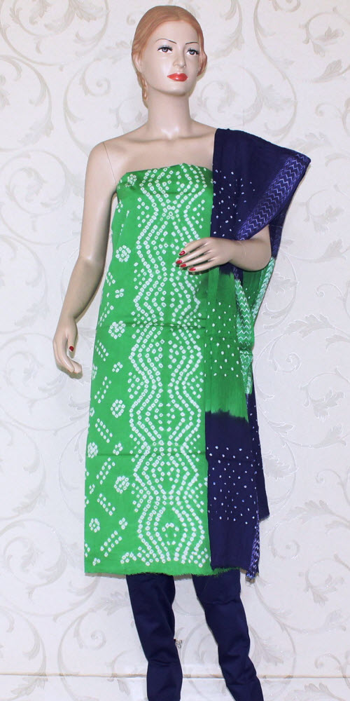 Bandhani (Tie & Die) Un-Stitched Pure Cotton Suit 12527