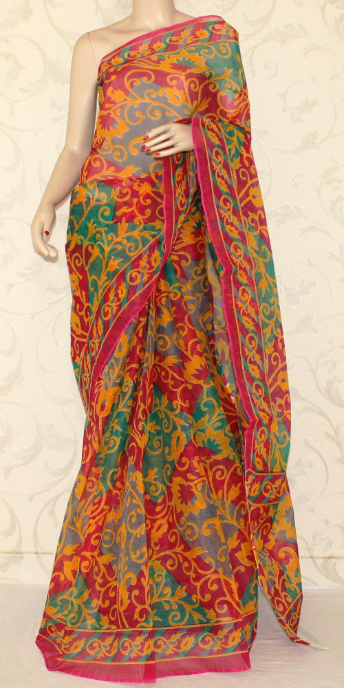 JP Kota Doria Printed Cotton Saree 12553