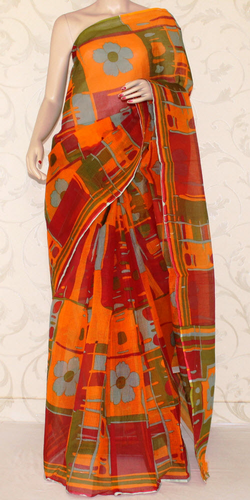 JP Kota Doria Printed Cotton Saree 12561