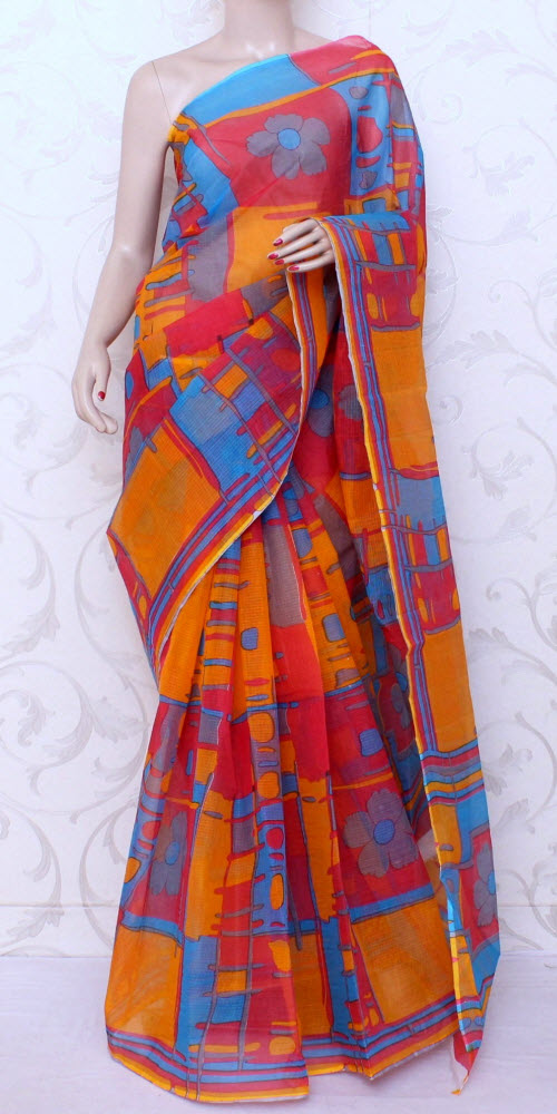 JP Kota Doria Printed Cotton Saree 12563