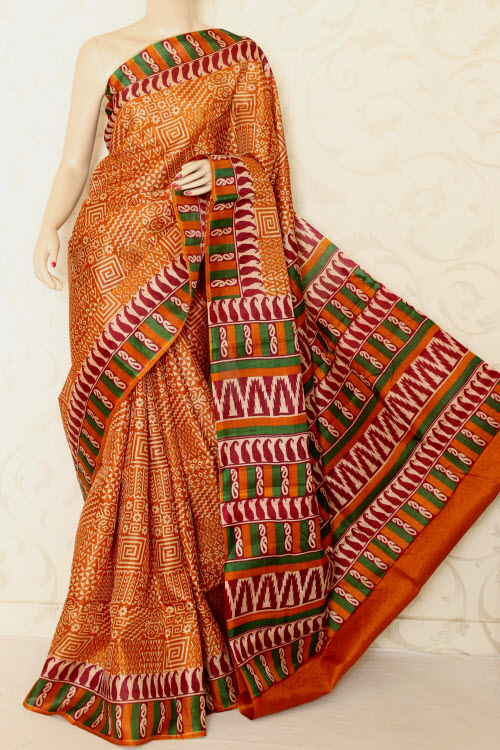 Tusser Art Silk Printed Saree (With Blouse) 12745