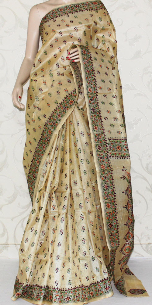 Kantha Work Pure Silk Saree 12944