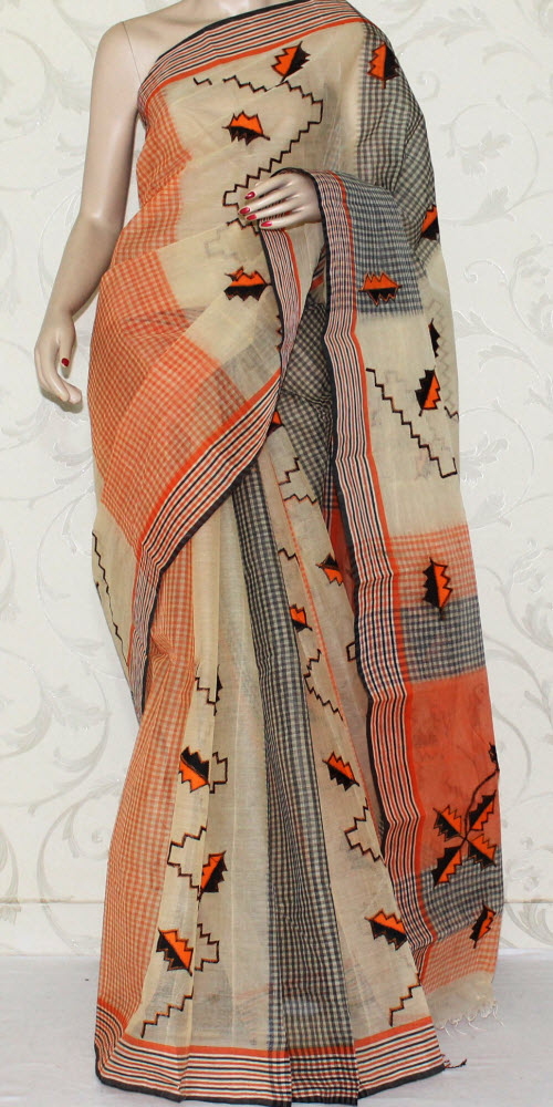 Bengal Handloom Cotton Saree (Applique) 12950