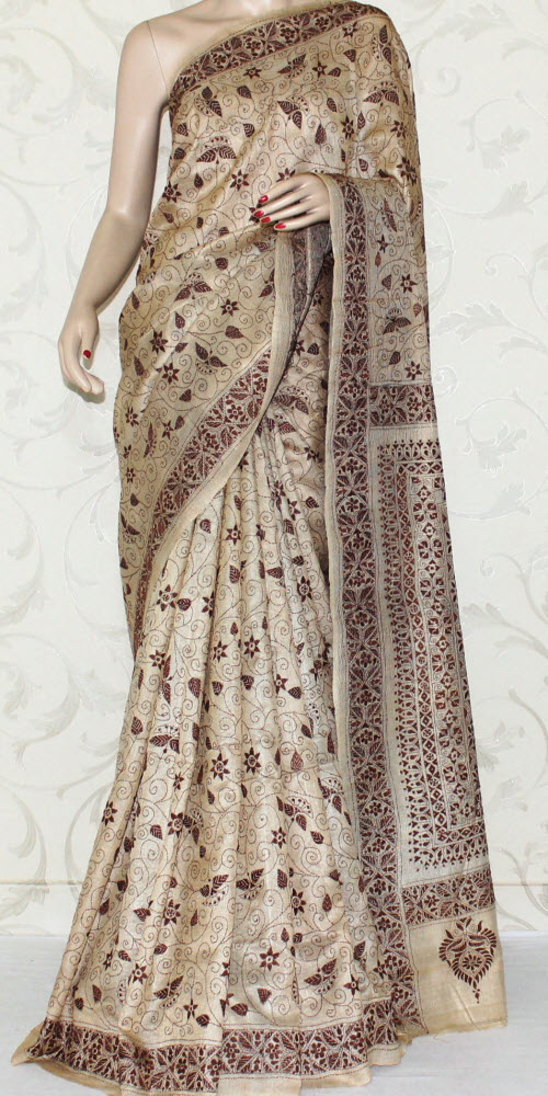 Kantha Work Pure Silk Saree 12965