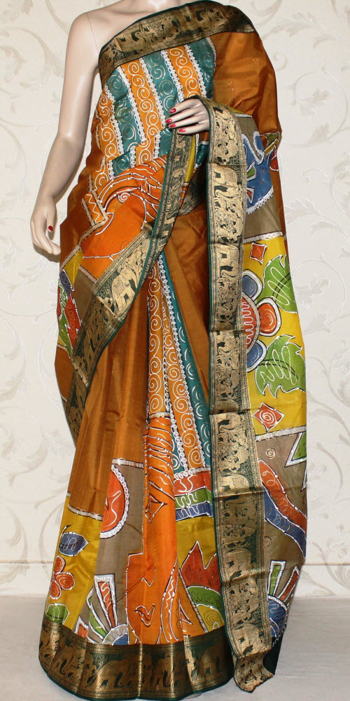 Designer Handprinted Pure Silk Saree 12975