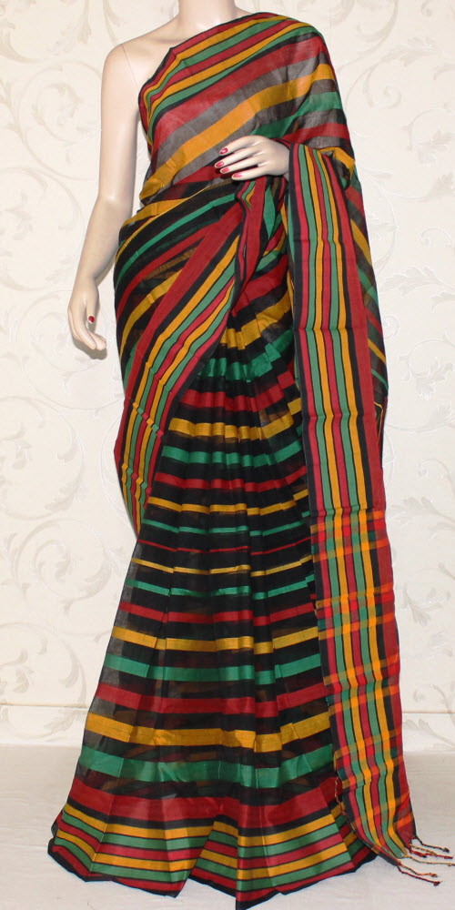 Multicolour Handloom Cotton Saree (with Blouse) 13192