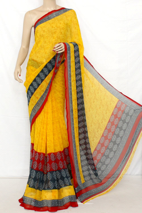 Printed Dx Quality Georgette Saree (With Blouse) 13277
