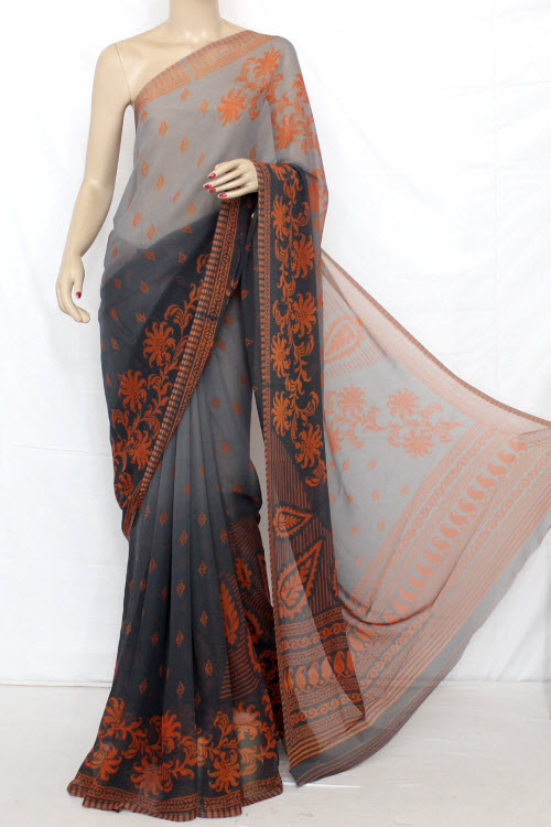 Printed Dx Quality Georgette Saree (With Blouse) 13279