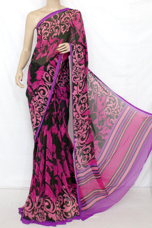 Printed Dx Quality Georgette Saree (With Blouse) 13281