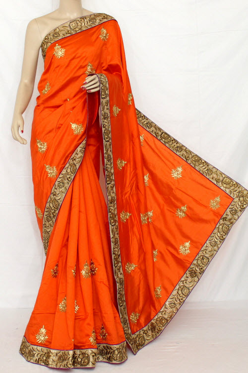 Exclusive Embroidered Saree (With Blouse) 13292