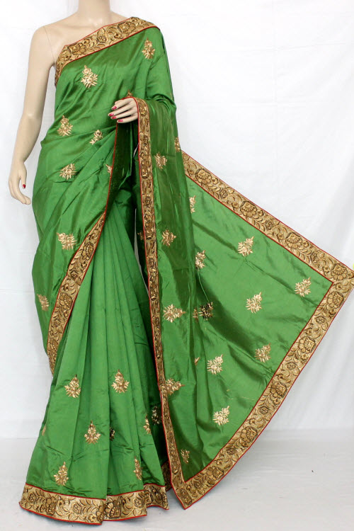 Exclusive Embroidered Saree (With Blouse) 13293