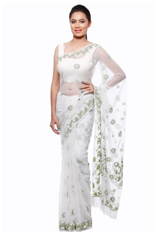 Designer fancy saree code:00027