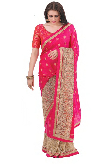 Banarsi Silk Saree With Matka Zari Border