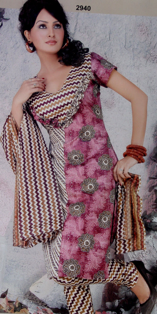 Designer Cotton Printed Suit Un-stitched 2940