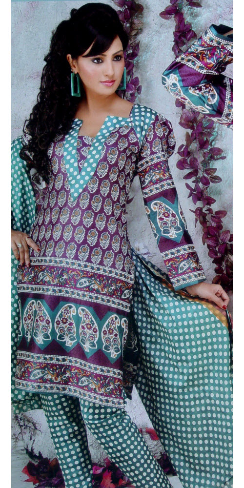 Designer Cotton Printed Suit Un-stitched 2953