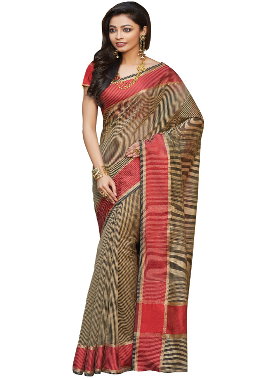 Brown Matka Art Silk Saree MC4500C115